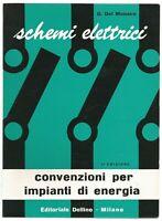 CONVENZIONI PER IMPIANTI DI ENERGIA Schemi elettrici Del Monaco 1963  Delfino