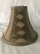 Designer Fabric Bell Shaped Lamp Shade olive/avocado green