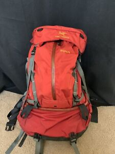 Arc'Teryx Bora 75 Backpack Red Backpacking size S/P Small Made in Canada