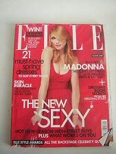 uk elle magazine Apr 2007 Madonna, beauty,travel,fashion Elle Style Awards