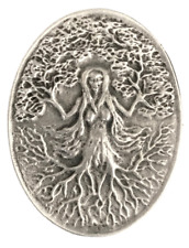 Green Woman Brooch Handcrafted From English Pewter (BR0797)