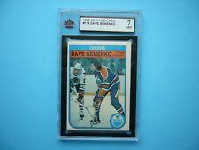 1982/83 O-PEE-CHEE NHL HOCKEY CARD #119 DAVE SEMENKO KSA 7 NM SHARP+ 82/83 OPC