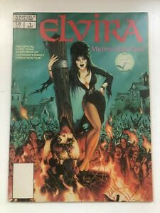 Elvira Mistress of the Dark Marvel Magazine 1 Comic Book 1988