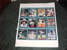 1991 Tuff Stuff Uncut Insert Card Sheet Jack Nicklaus Cal Ripken Wayne Gretzky