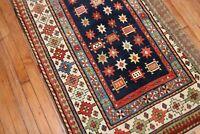 Antique Caucasian Talish Rug Size 3'4''x8'2''