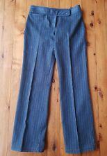 SUSSAN Dark Navy/Cream Pinstripe Stretch Denim Pants/Jeans Size: 10