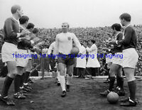England Bobby Moore leads out team against Northern Ireland 12x8 unsigned photo