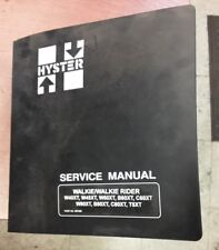 HYSTER FORKLIFT PARTS MANUAL WALKIE/WALKIE RIDER PART NO. 897465
