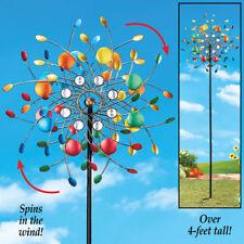 Wind Spinners Yard Metal Stake Decoration Garden Kaleidoscope Outdoor Spin Wheel