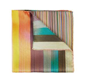 Paul Smith Pocket Square - BNWT Signature & Artist Stripe Dip Dye Clash RRP: £50