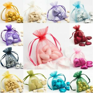 Organza Drawstring Gift Bags 100 x 75mm Wedding Favour Party Jewellery Pouches