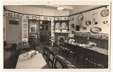 Vintage Swiss Chalet Interior Photo, Chateau D'Oex, c 1950's, Shows Dining Room