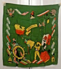 """TERRIART """"We Stand United"""" with Capitols, Maps, Flags 30x28 Long Scarf-Vintage"""