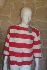 Pull blanc et bleu neuf taille XL marque Hawick Knitwear étiqueté à 139€