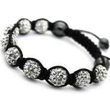 Threaded Crystal Shamballa Bracelet