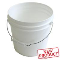 10 PACK Plastic Pails 2 Gallon W/ Metal Handle Paint Buckets Industrial White