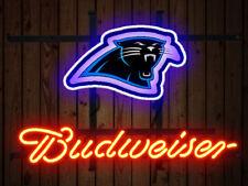Neon Signs Carolina Panthers  Budweiser Beer Bar Pub Party Homeroom Decor 19x15