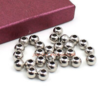 60pcs in bulk stainless steel silver 5mm Loose beads Jewelry Marking 1.9mm Hole