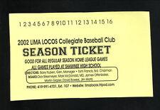 Lima Locos--2002 Pocket Schedule--GLSCL