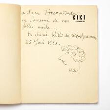 Alice PRIN [KIKI DE MONTPARNASSE]: Kiki Souvenirs, Signed with Self-Portrait
