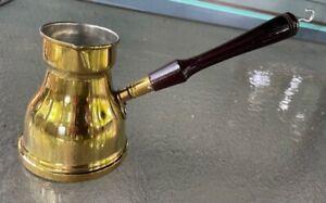 Egyptian Handmade Brass Turkish Coffee Maker Ibrik  size 6 Large new