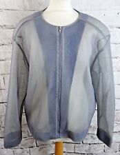 """COS casual jacket Size XL bust 52"""" steel blue grey technical mesh fabric zip up"""