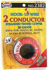 28 Gauge Hook Up Wire 24 Feet for Scale Model Railroad Trains 2 Conductor 2302