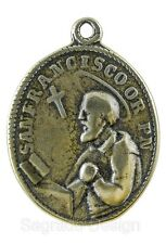 ST. FRANCIS / OUR LADY OF THE ROSARY Medal, bronze from c. 1860 Mexican original
