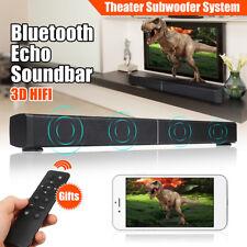 40W Bluetooth Sound Bar Soundbar Speaker Home TV Echo-wall Audio RC Wall-mounted