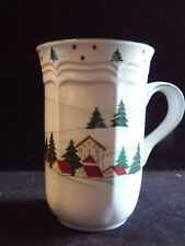 "Christmas Wonderland Winter Village Drink Mug Mikasa 4 1/2"" Tall"