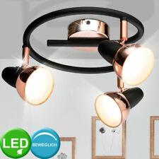 Design LED Decken Spot Strahler beweglich Lampe ALU Kupfer Wohn Zimmer Rondell