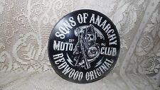 SONS OF ANARCHY TV SERIES REAPER WALL CLOCK CONVEX GLASS BATTERY OPERATED