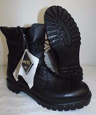 GORE-TEX PRO BLACK LEATHER COMBAT BOOTS  - Size: 14 Small , British Army