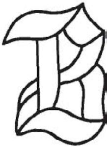 Letter B - Glass Alphabet Bevel Clusters