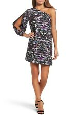 Chelsea28 One Shoulder Shift Dress~Floral~XS~NWT $129