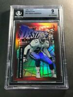DEION SANDERS 1996 TOPPS FINEST #151 DESTROYERS REFRACTOR PARALLEL BGS 9 COWBOYS