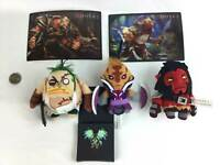 DOTA 2 Promotion Lot of 6 Merch Micro Plush Postcards Collectible Metal Pin Lot