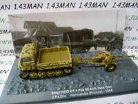 PZ8 véhicule militaire 1/72 PANZER : STEYR RSO 0/1 + pak 40 anti-tank gun 1944