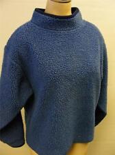 youth childrens Medium blue LL BEAN THICK DEEP PILE FLEECE SWEATER shirt CLEAN
