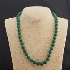 Gemstone necklace 18'' 12Mm Green Malachite