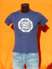 TRITON T Shirt True Vintage 60s Made in France LR Paris Feutrine Felt Navy Old