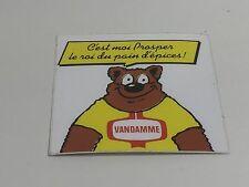 AUTOCOLLANT VINTAGE VANDAMME PROSPER L'OURS