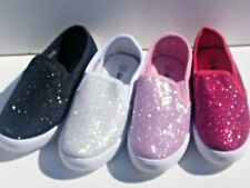 New Canvas Glitter Shoes For Toddler Girls. Many sizes & Colors.