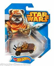 Star Wars Hot Wheels Diecast Wicket Character Car Rare and VHTF