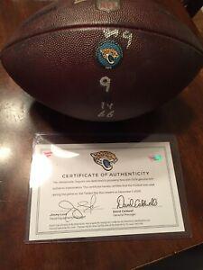 Jacksonville Jaguars Game Used Football Leonard Fournette TD Matched Tampa Bay