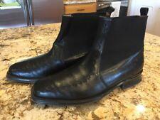 Mezlan Men's Black Leather Chelsea Square Toe Ankle Boots Size 9.5M