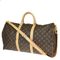 AUTH LOUIS VUITTON KEEPALL 50 BANDOULIERE 2WAY HAND BAG MONOGRAM M41416 94MB343