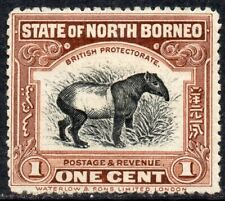 More details for 1909-1923 north borneo sg 159a 1c brown (perf 14½ x 15) mounted mint