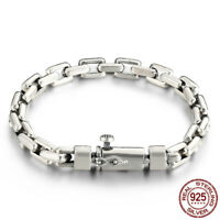 925 Sterling Silver Bracelet Men's Bangle Chain includes Gift box Cleaning cloth