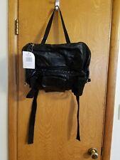 DIAMOND PLATE Motorcycle Bike BUFFALO LEATHER Duffle Bag Travel Black Sissy Bar